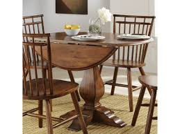 Liberty Furniture Creations Ii Drop Leaf Pedestal Table Royal