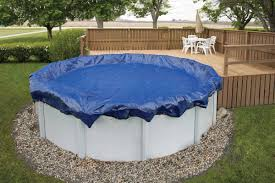 Image Automatic Performance Pool Products Winter Cover Pool Size 28ft Round 15 Yr Royal Blue Wc9104