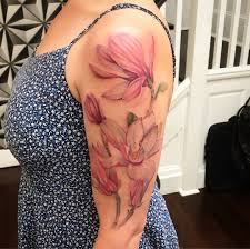 Magnolia Watercolor Tattoo By Cody At Central Tattoo Studio