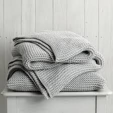 Gray And White Throw Blanket