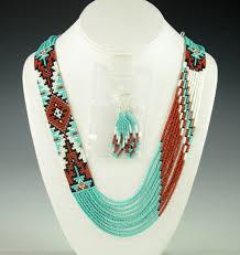 navajo bead designs. Beaded Navajo Necklace Rena Charles Bead Designs F