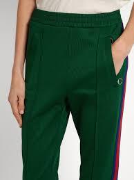 gucci pants. gucci web-striped jersey track pants