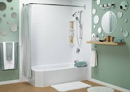 one piece tub and shower surround home decor laux us with idea 18