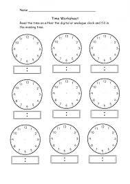 blank clock worksheets exol gbabogados co kindergarten worksheet ...