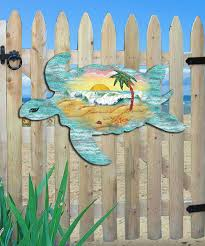 womens sea turtle scenic wood outdoor wall décor alternate image 2