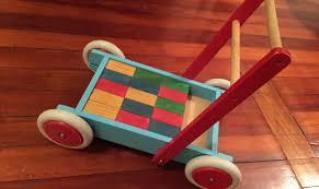 baby wooden push walker trade me