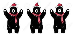 Bear Vector Polar Bear Christmas Santa Claus Xmas Scarf Cartoon.. Royalty  Free Cliparts, Vectors, And Stock Illustration. Image 129603024.