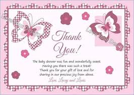 Baby Gift Thank You Note By Shower Thank You Note Wording Gallery Message For Letter Baby