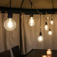 outdoor tulip globe filament style long drop festoon lights connectable