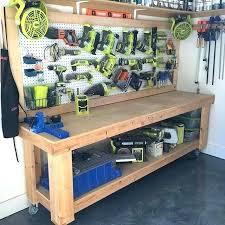 Garage Workbench Plans And Patterns Unique Garage Work Bench Ideas Shelving And Workbench Tuttorco