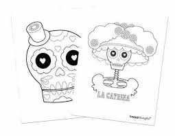 Talking to kids about the day of the dead, i don't relate the holiday to halloween, other than to mention that it is celebrated at about the same time these brightly colored skulls are made of sugar or ceramic. Free Coloring Sheets Day Of The Dead Kids Activity Table