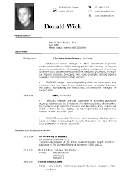 Simple Cv Examples Uk Curriculum Vitae Example Filename Uk
