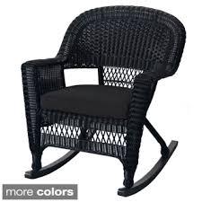black wicker rocking chair. Brilliant Wicker Black Rocker Wicker Chair With Cushions Set Of 2 Intended Rocking E