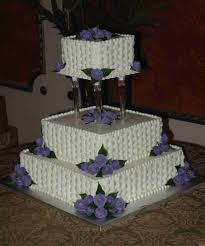 Square Basketweave Cake With Periwinkle Royal Roses Cakecentralcom