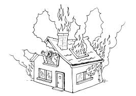 Small Picture On Fire Coloring Pages