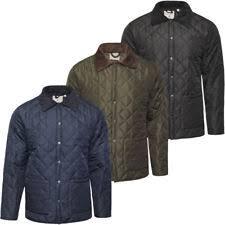 Mens Diamond Quilted Jacket   eBay & Mens Soulstar Diamond Quilted Jacket Padded Cord Patches Coat New Adamdwight.com