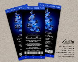 Party Ticket Invitations Fascinating Holiday Party Ticket Invitations Printable Ticket Style Etsy