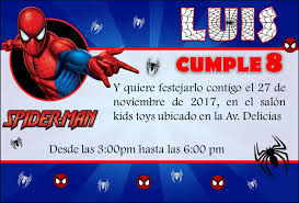 Invitaciones De Spiderman Para Editar