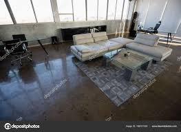 modern interior office stock. High Angle Interior Of Modern Office \u2014 Stock Photo K