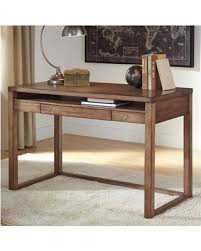 signature design by ashley baybrin writing desk h587 10 baybrin rustic brown home office small