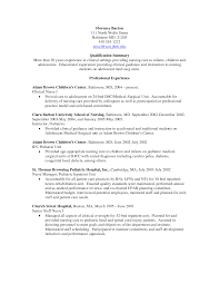 pediatric nurse resume  resume sample format
