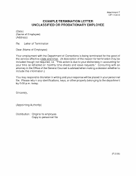 Termination Letter To Employee As Well For Poor Performance