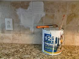 Painting Wall Tiles Kitchen Older And Wisor Painting A Tile Backsplash And More Easy Kitchen