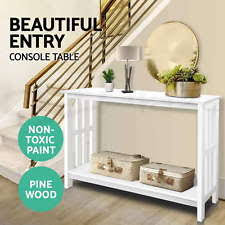 hall console table white. Hall Console Table Hallway Side Entry Display Desk Timber Stand Wooden White O