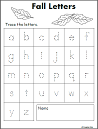 Letter Tracing Templates Letter Tracing Free Lowercase Letter Tracing Fall Madeteachers