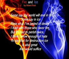 fire poems fire and ice quotes quotesgram