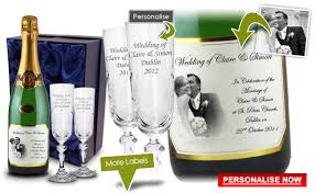 personalised chagne wedding gift wedding gift personalised present chagne and flutes