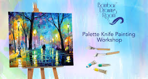 palette knife painting work cafe zoe