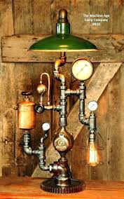 steampunk lighting. Steampunk Lamp For Sale Lighting Industrial Vintage Green Shade Table Plans  .