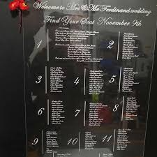 Unique Acrylic Seating Chart Sign Wedding Welcome Sign Menu