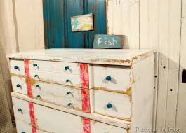 Image Room Nautical Inspired Furniture Makeover Petticoat Junktion Pinterest Nautical Style Furniture Makeover Furniture Doors Repurposed