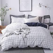 black and white grid soft comforter