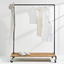 Monroe Trades Clothing Rack + Distressed Wood Platform