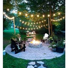 How To Hang Outdoor String Lights Enchanting Simple Backyard Lighting Ideas Backyard Lighting Ideas How To Hang