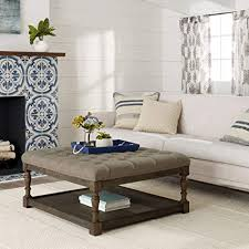 Image Inspire Tufted Ottoman Coffee Table Centerpiece Suitable For Living Rooms Large Storage Bench Provides Comfort And Amazoncom Amazoncom Tufted Ottoman Coffee Table Centerpiece Suitable For