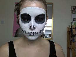 jack skellington make up tutorial face simple