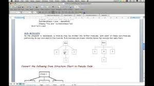 Hierarchy Chart Pseudocode Structure Chart To Pseudo Code Sequence Youtube