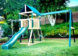 double swing set outdoor s inc plum double swing set with slide tp wooden double swing