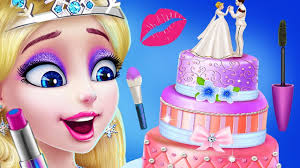 fun kids care game ice princess learn cake design color decorate makeup makeover kids games