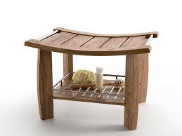 bench with shelf. Spa Teak Shower Bench With Shelf 3d Model