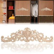 wood furniture appliques. 2pcs Wood Carved Applique Frame Corner Onlay Unpainted Furniture Door Decor US Appliques H