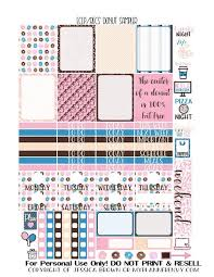Printable Calendar Sample Amazing Free Printable Donut Sampler For The Vertical Erin Condren And The