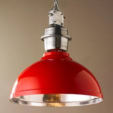 Red Kitchen Light Shades Industrial Enameled Shade Warehouse Pendant Large Lamps White