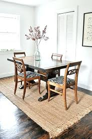round dining table with rectangle rug under carpet on dinning in room apartment area rugs kitchen