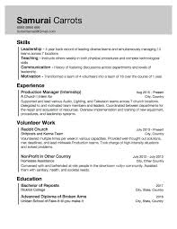 Skills And Experience Resumes Resume With Little Work Experience But Skills Acquired