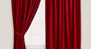 curtains velvet amazing red details